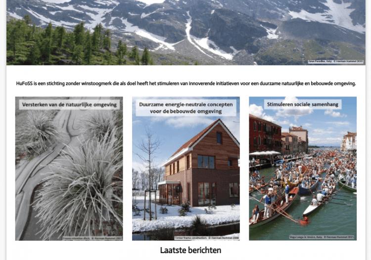 2-TALIGE WEBSITE. Deze website is gemaakt voor een ecologische stichting. Hiermee kun je de diensten en werkzaamheden presenteren en de laatste nieuwsberichten laten zien.